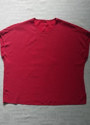 Красивая шелковая блуза/летняя футболка, модель oversize2 фото