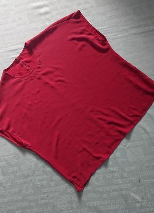 Красивая шелковая блуза/летняя футболка, модель oversize4 фото