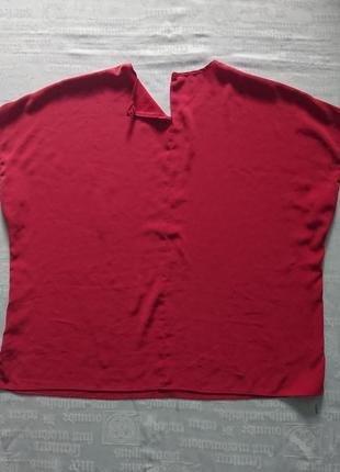 Красивая шелковая блуза/летняя футболка, модель oversize6 фото