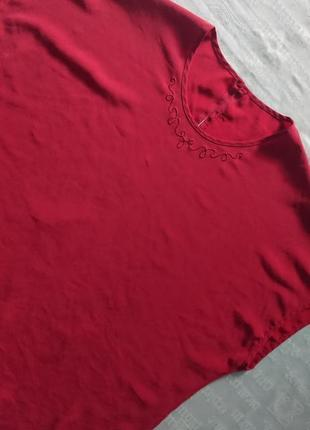 Красивая шелковая блуза/летняя футболка, модель oversize7 фото