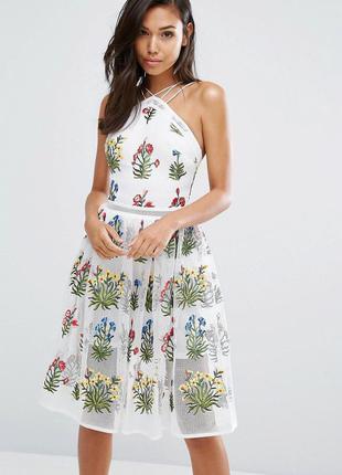 Rare роскошное платье с цветочной вышивкой 1800+ моделей!!!