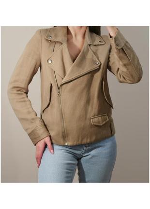 Тканевая куртка косуха котон лен