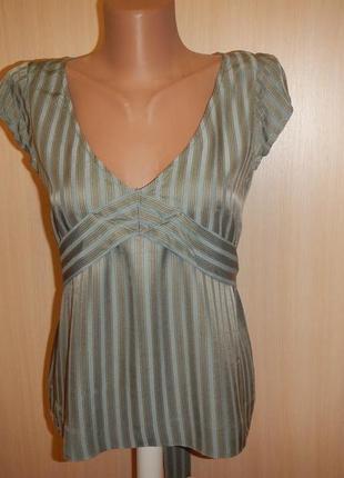 Шелковая блуза french connection р.10 100% шелк