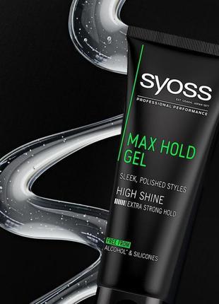 Гель для волос syoss max hold экстрасильной фиксации