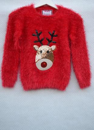 Рождественский  свитерок травка  338