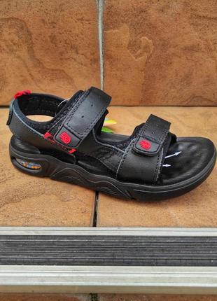 Кожаные босоножки сандалии для мальчика
