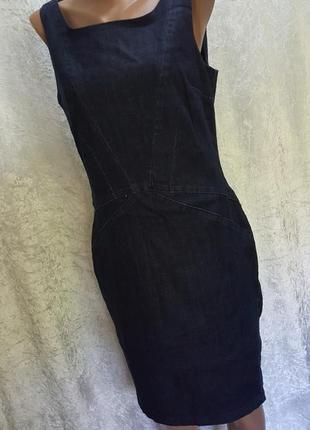 """Шикарнейшее джинсовое платье от известного бренда"""" armani jeans"""" 40 разм"""