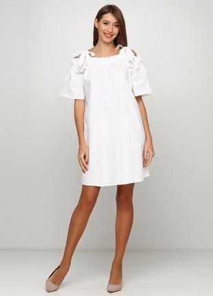 Белое коттоновое платье новое