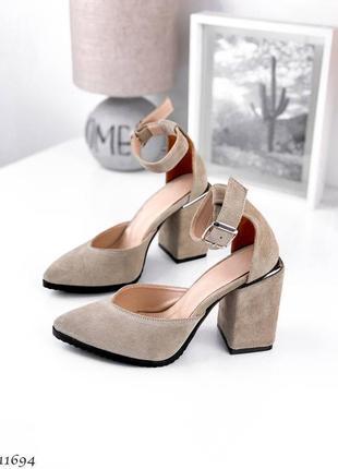 Туфли босоножки натуральная замша кожа2 фото
