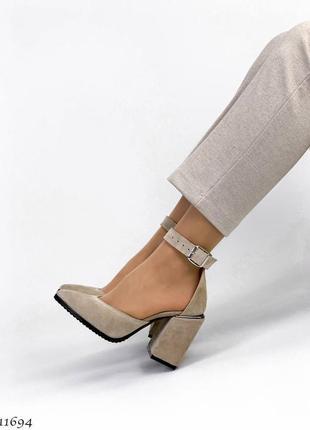 Туфли босоножки натуральная замша кожа4 фото