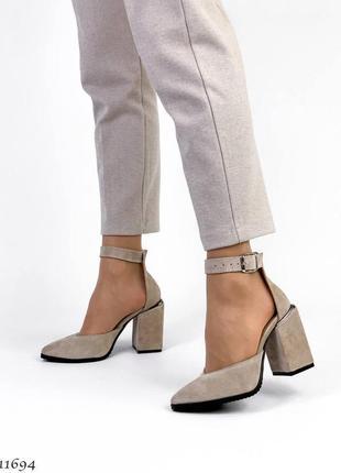 Туфли босоножки натуральная замша кожа5 фото