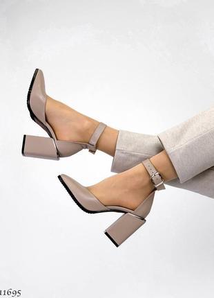 Туфли босоножки натуральная замша кожа7 фото
