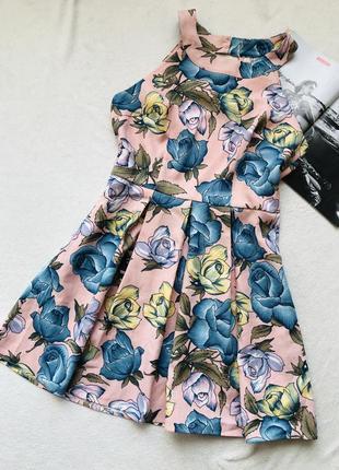 Цветочное большое платье bodyflirt