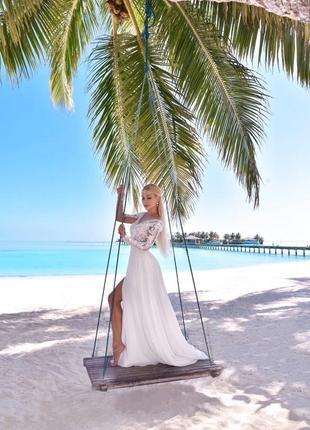 Дизайнерское свадебное платье3 фото