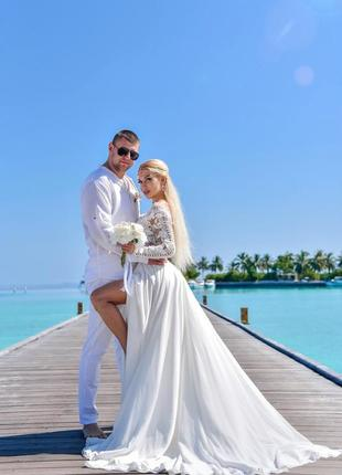Дизайнерское свадебное платье4 фото