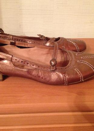 Туфли кожаные на большую ногу р.42 gabor австрия