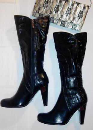 Кожаные ботинки извесной фирмы medea