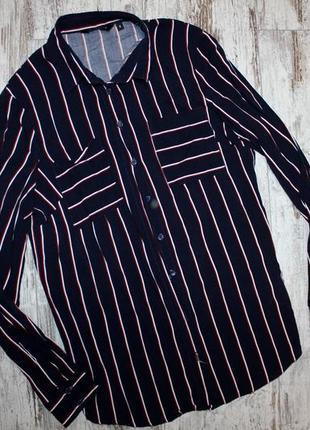 Рубашка new look xs в полоску