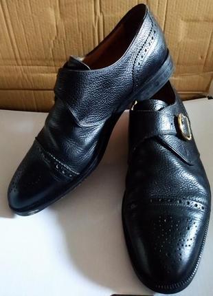 Кожаные фирменные туфли bally, оригинал, покупали в швейцарии