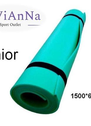 Фітнес килимок lavianna junior green фитнес коврик каремат турестический 1500*600*5 мм