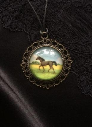 Кулон винтаж кони ретро стиль бохо