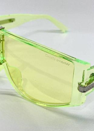 Gentle monster очки женские солнцезащитные салатовая прозрачная маска