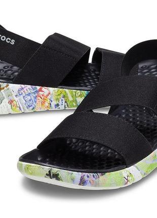 Босоножки сандалии крокс crocs women's literide™ neo graff stretch sandal оригинал