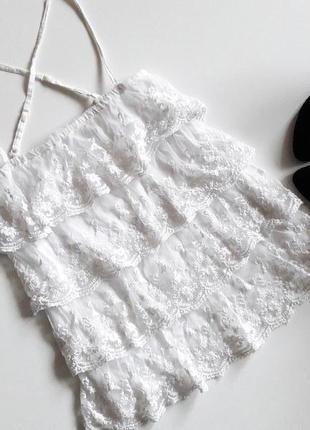 Белая кружевная блуза...