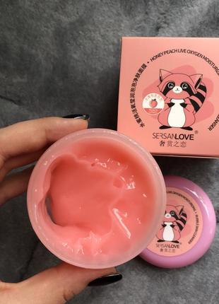 Кислородная маска sersanlove honey peach bubble mask с экстрактом меда и персика
