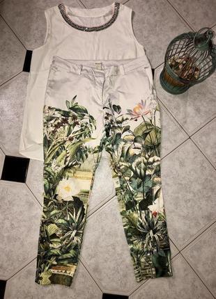 Очень крутые брюки / штаны в тропический принт от h&m 🍃
