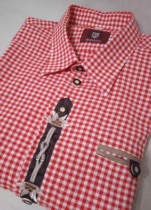 Рубашка в клетку с длинным рукавом ретро винтаж