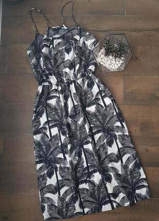 Платье в пальми