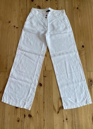 Льняные прямые брюки