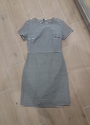Платье в полоску на молнии возраст 11-12 лет