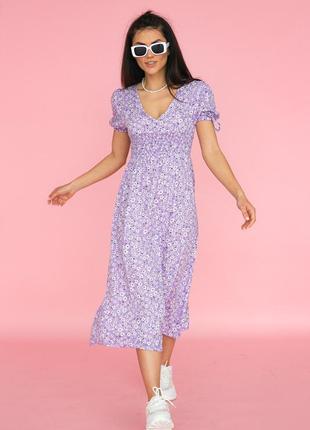 Нежнейшее платье с резинкой на талии