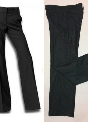 Базовые, классические прямые брюки со стрелками, шерсть, зима, демисезон,kookai