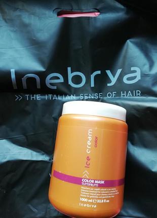 Маска для окрашенных и мелированных волос inebrya