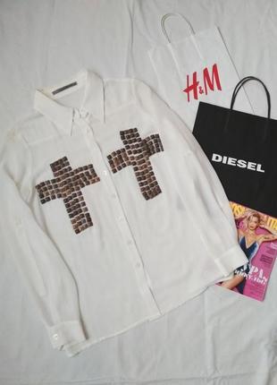 Блуза полупрозрачная с крестамм