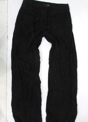 Штаны черные next petite 6, лен-вискоза, легкие, удобные, как новые!