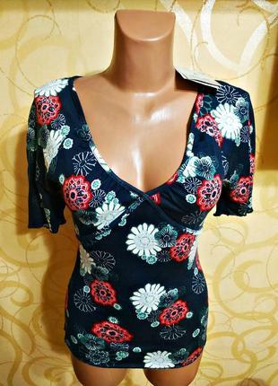 98.яркая и стильная высокого качества футболка в принт американского бренда cherokee.новая с биркой.