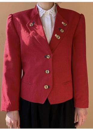 Льняной винтажный пиджак