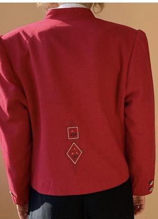 Льняной винтажный пиджак3 фото