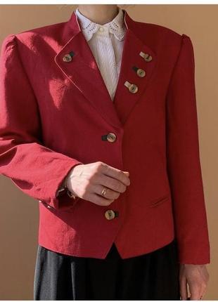 Льняной винтажный пиджак2 фото