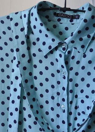 Платье / сарафан мятный в горошек