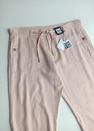 Красивые качественные летние брюки с содержанием льна