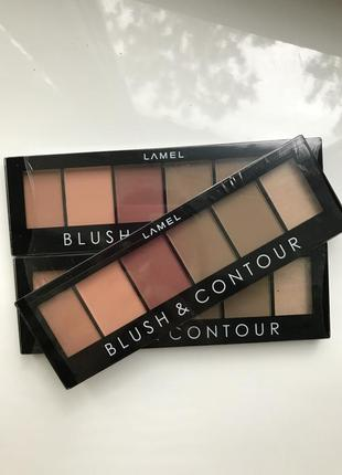 Палетка для контуринга lamel professional blush & contour тон 01, 16 г