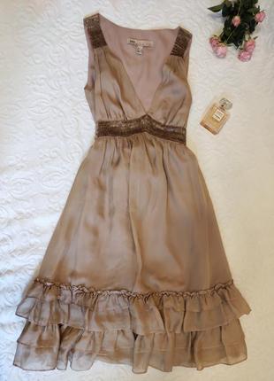 Шелковое платье, бренда mango