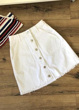 Белая юбка на высокой посадке💗