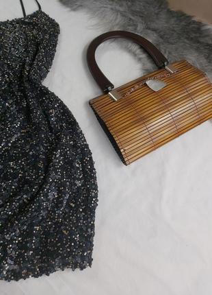 Шикарное нарядное вечернее платье с паетками5 фото