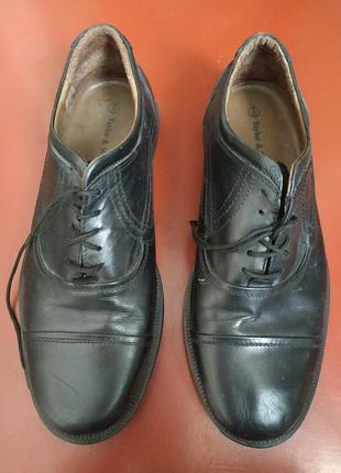 Мужские черние кожаные туфли